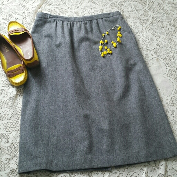 dcbafedcbe Prestige of Boston Skirts   Vintage Gray Wool Skirt   Poshmark